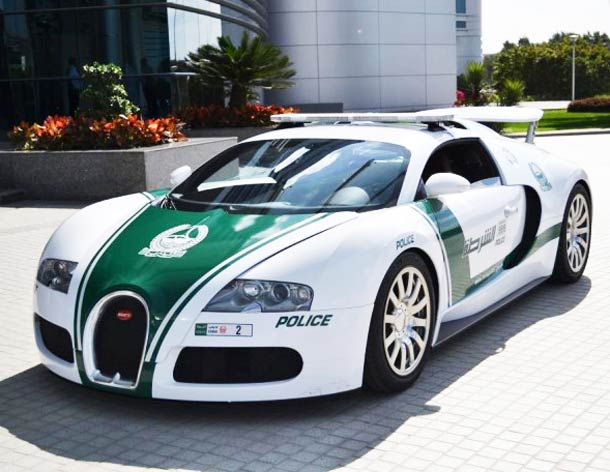 Dubai has world's fastest police car in the world.