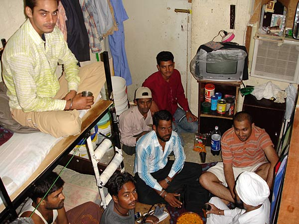 Indian expatriates have to share rooms with other people in Dubai.