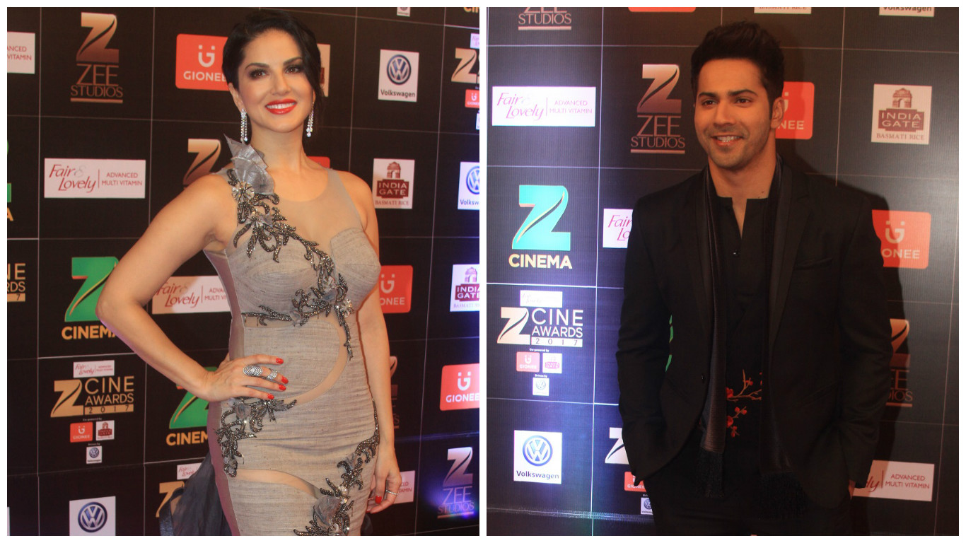 Sunny Leone (left) and Varun Dhawan.