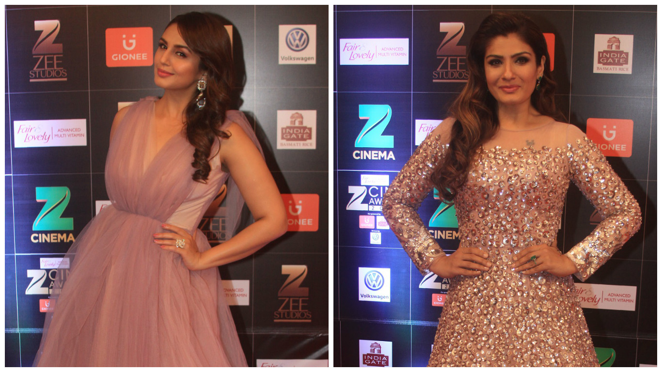 Huma Qureshi (left) and Raveena Tandon.
