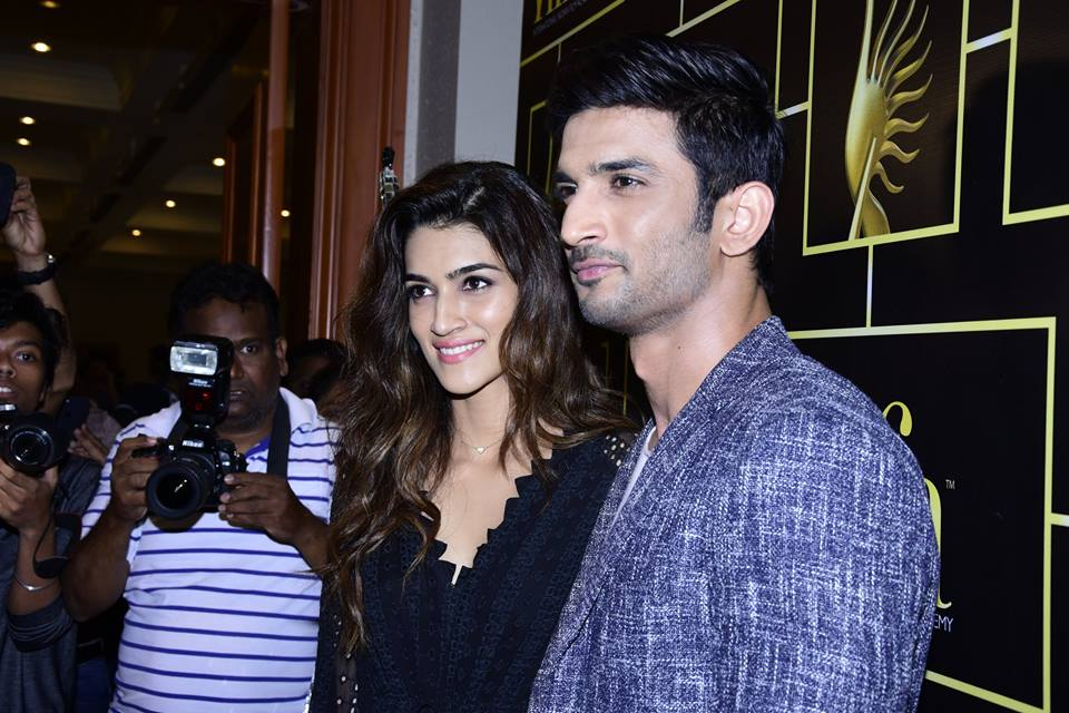 Kriti Sanon and Sushant SIngh Rajput at the IIFA Voting Weekend event.
