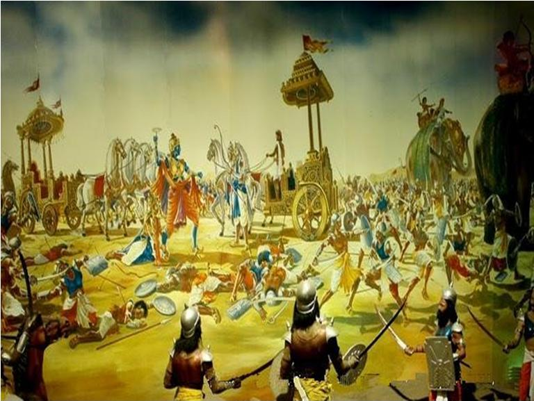 The ninth day of the battle at Kurukshetra.
