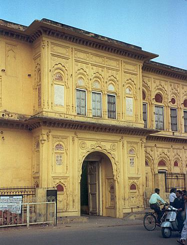 The entrance of the Rani Mahal.