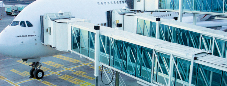 Automated plane boarding bridges