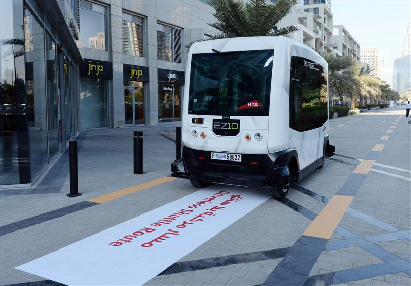 Driverless electric shuttle EZ10