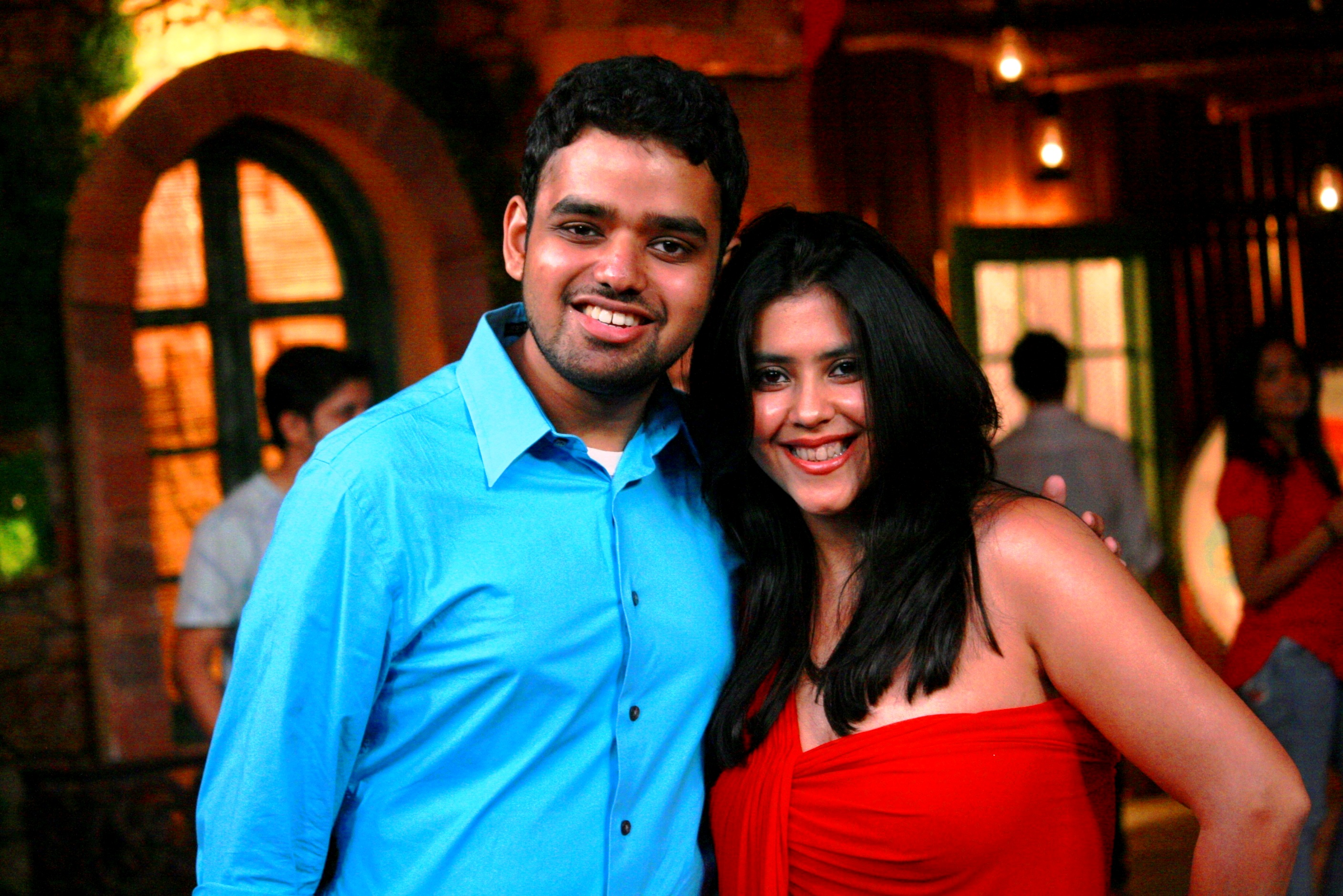 Kovid Gupta with Ekta Kapoor Joint Managing Director and Creative Director of Balaji Telefilms Photo courtesy: Kovid Gupta