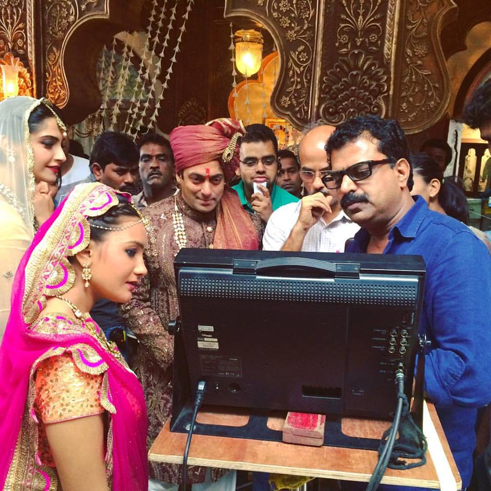 On the sets of Prem Ratan Dhan Payo Photo courtesy: Kovid Gupta