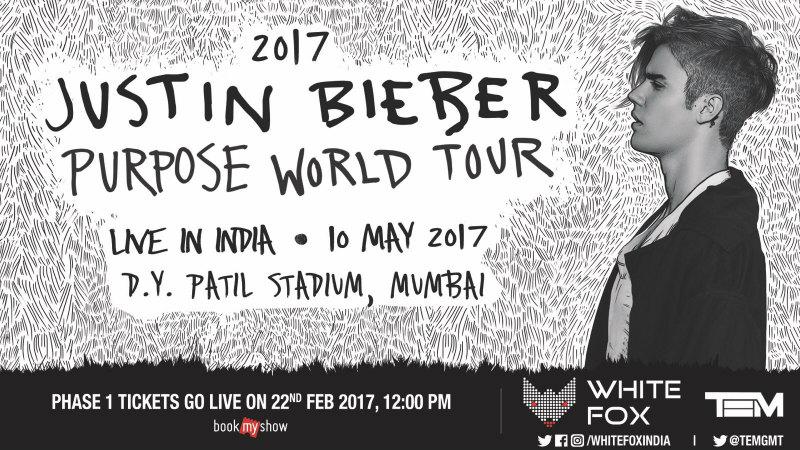 Justin Bieber concert poster.
