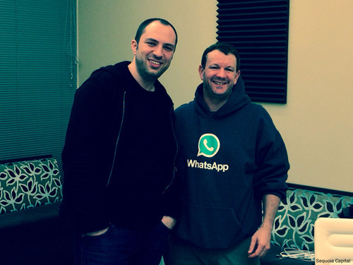 Brian Acton with whatsapp co-founder jan koum