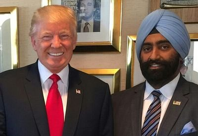 Jasdip Singh with US President Donald Trump