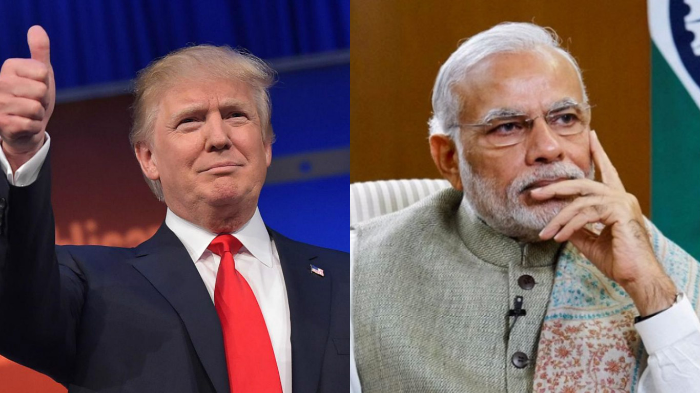 US President Donald Trump and Indian Prime Minister Narendra Modi.