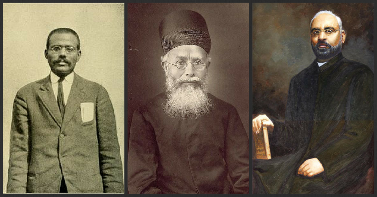 From left: Lala Har Dayal, Dadabhai Naoroji and Shyamji Krishna Varma