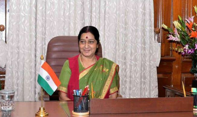Sushma Swaraj, Indian Minister of External Affairs.
