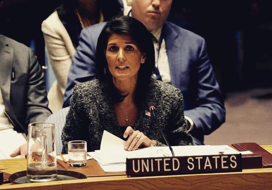 America's envoy to the United Nations (UN) Nikki Haley