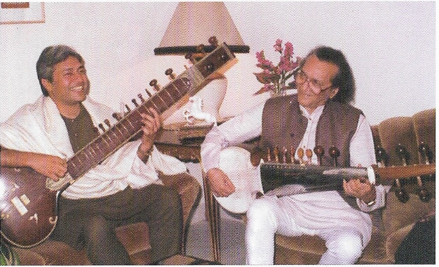 Ustad Amjad Ali Khan with Pandit Ravi Shankar Photo courtesy: Master on Masters