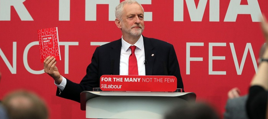 Labour Party Leader Jeremy Corbyn releasing the election manifesto.