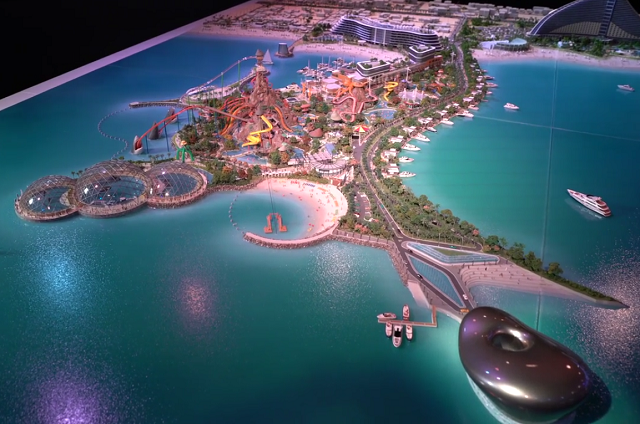 Dubai is going to  build two man-made islands to attract tourists.