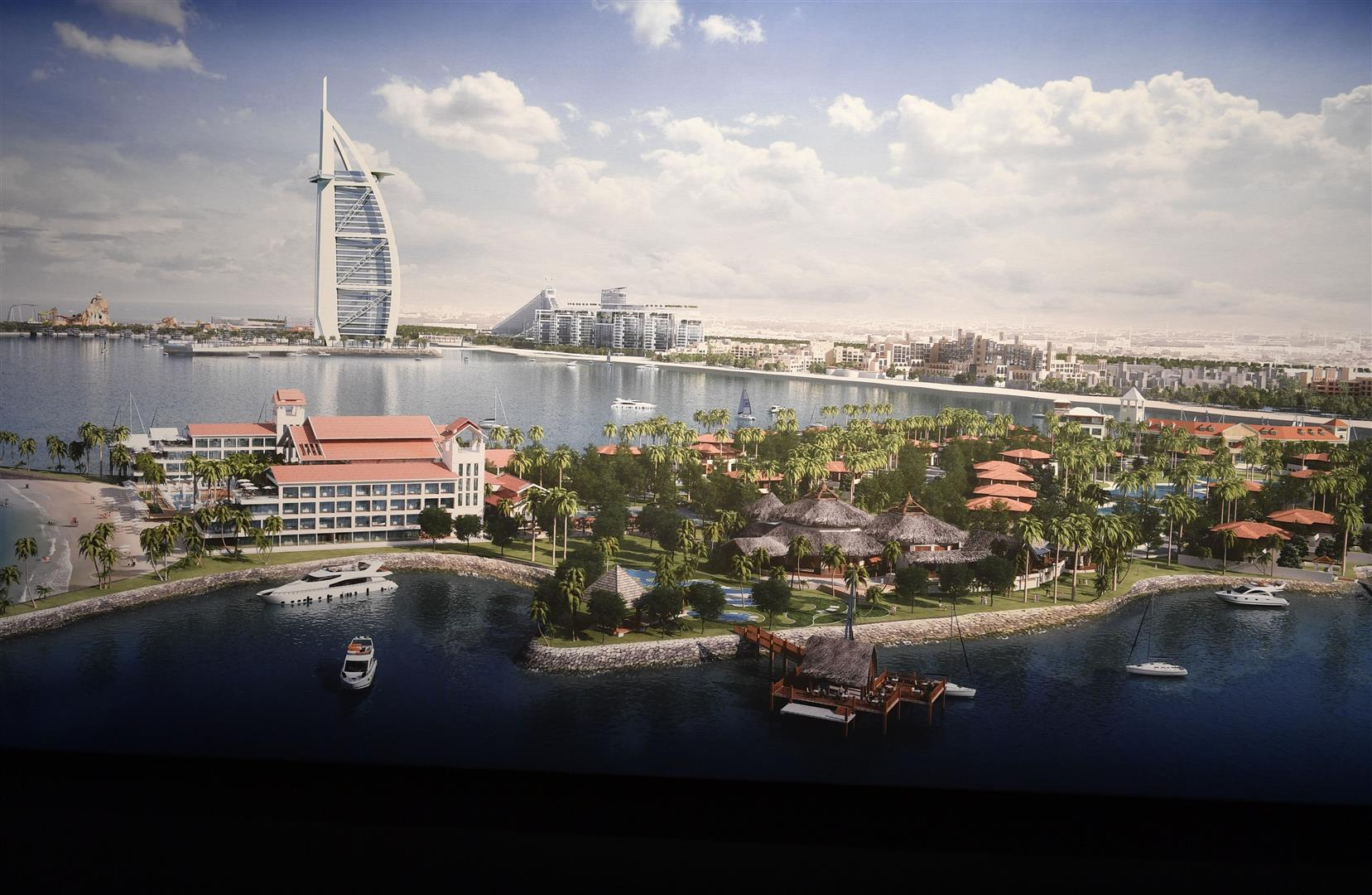 Marsa Al Arab will feature hotels, waterfront apartments, 140 villas, a marina, a water park and a theatre with capacity for 1,700 people