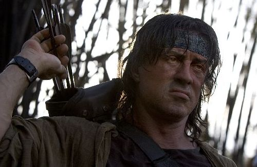 Sylvester Stallone in Rambo 4.