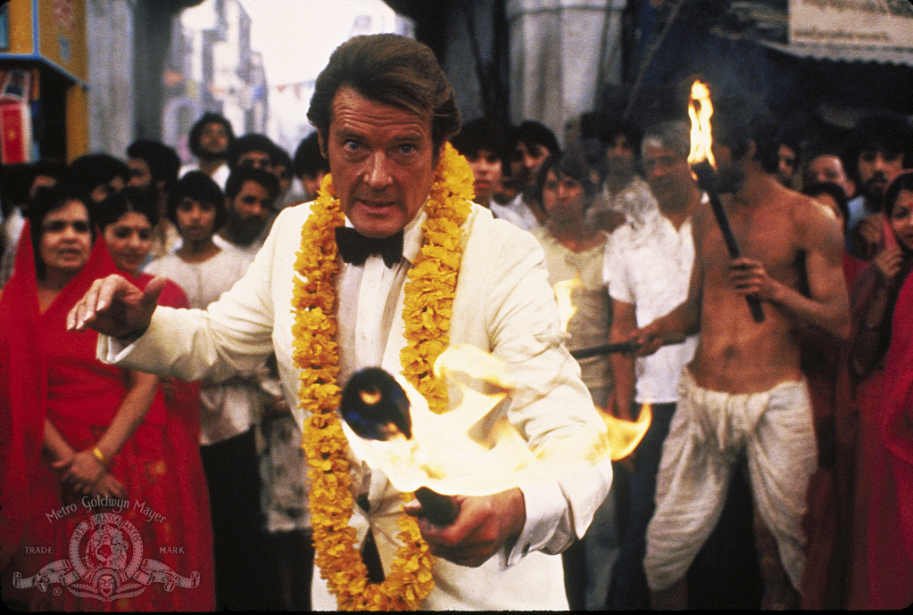 Roger Moore as James Bond in 'Octopussy'.