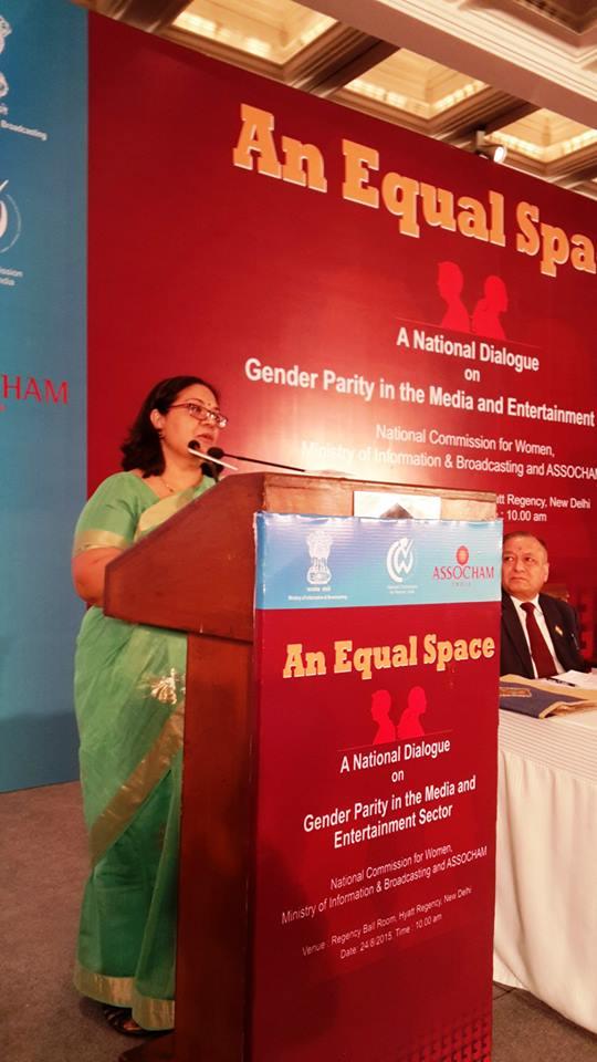 Lalitha Kumaramangalam, Chairperson, NCW addressing the gathering.
