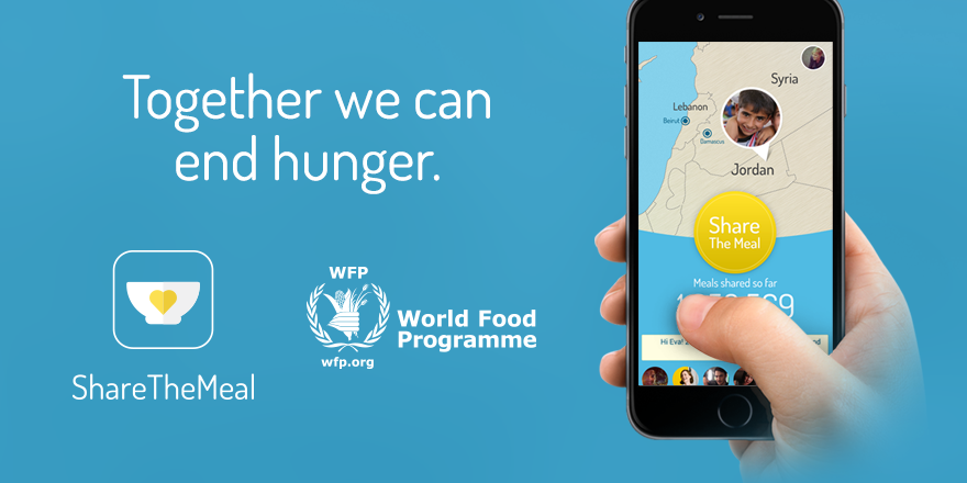 With the help of app-ShareTheMeal, people can send their donations to help Syrian and Lebanese children.
