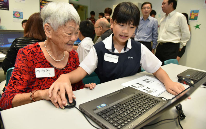 Making technology cool for seniors. Photo courtesy: IMDA