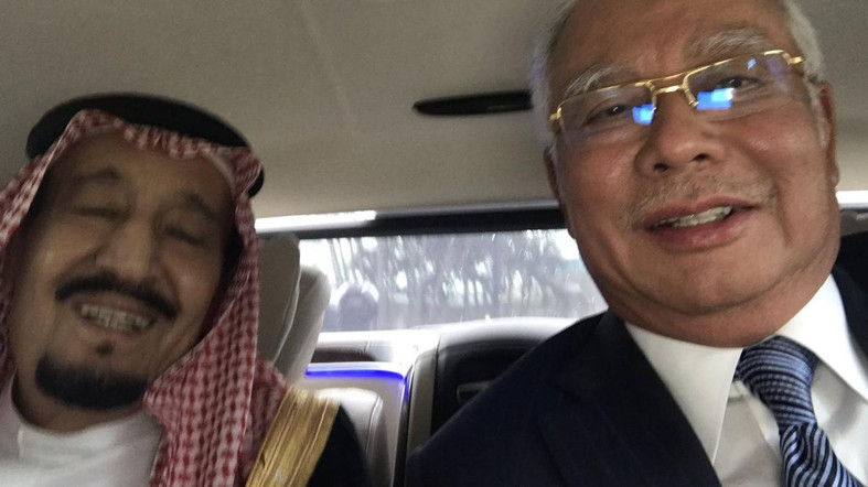 Najib and Saudi King taking a selfie together. Photo courtesy: Najib Twitter