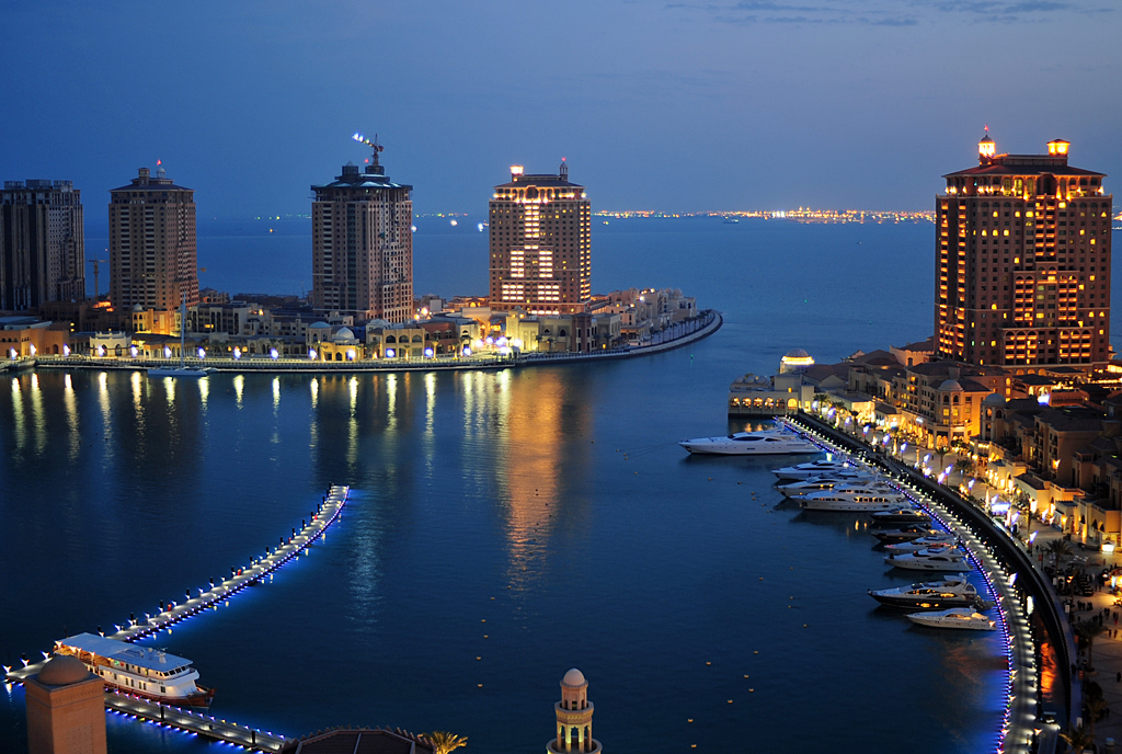 The Pearl in Qatar. Photo courtesy: Wikipedia
