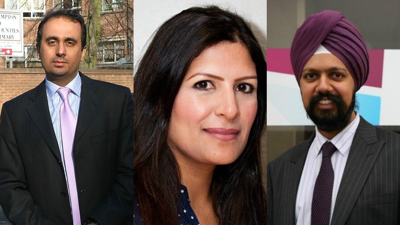 From left: Paul Uppal, Preet Kaur Gill and Tanmanjeet Singh Dhesi.
