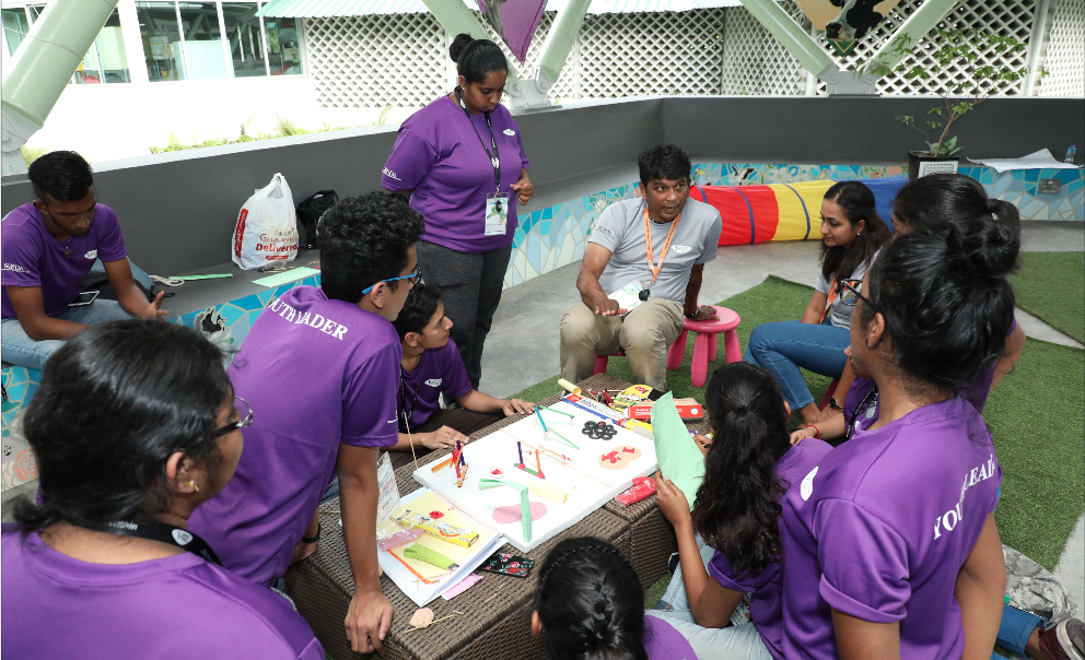 Participants taking part in the Advocacy Challenge. Photo courtesy: SINDA