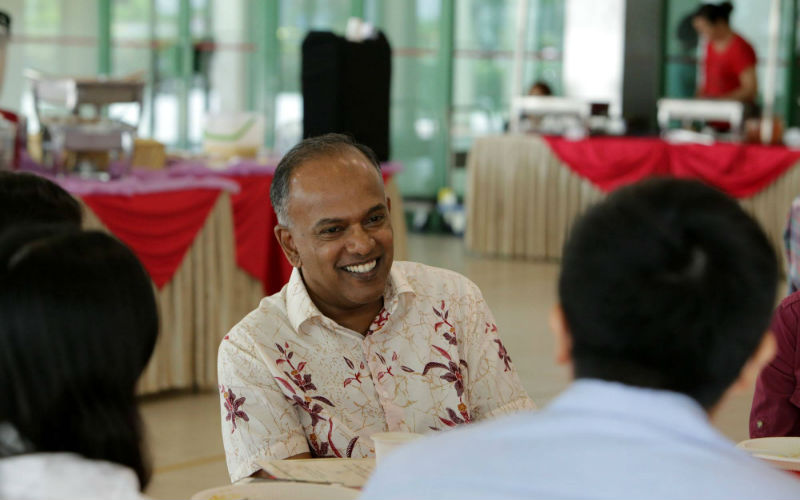 Home Affairs and Law Minister of Singapore K Shanmugam.