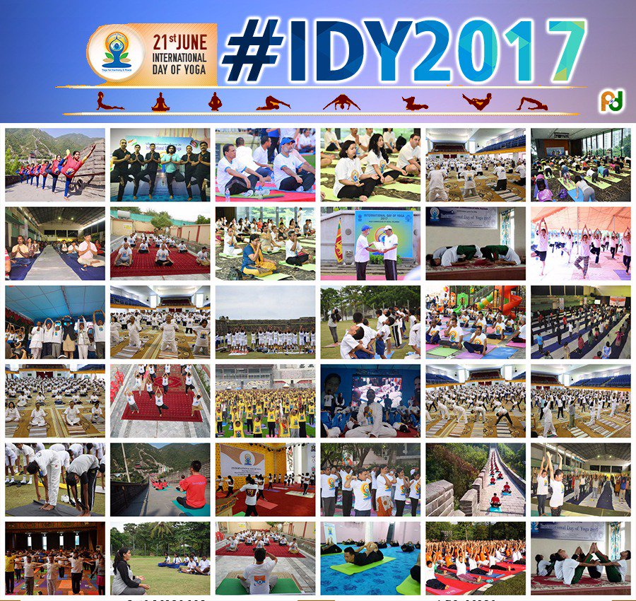 International Day of Yoga was observed at diplomatic missions across the world.
