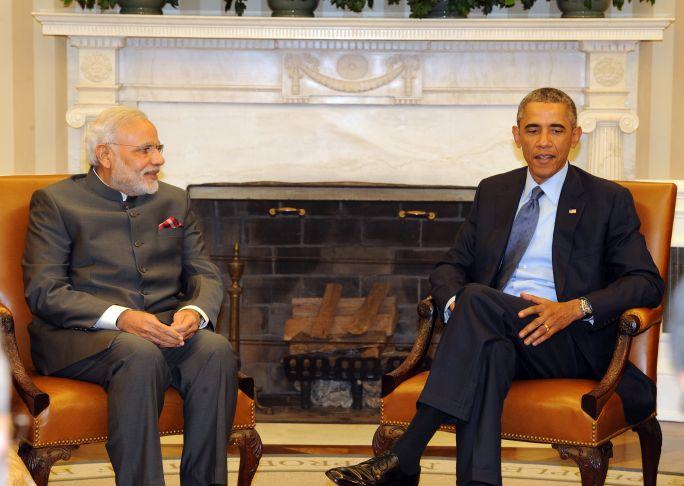 Indian Prime Minister Narendra Modi (left) with US President Barack Obama in 2014.