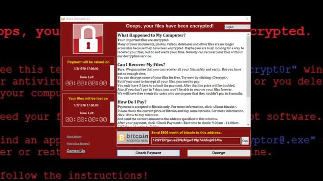 Wannacry. Photo courtesy: Wiki