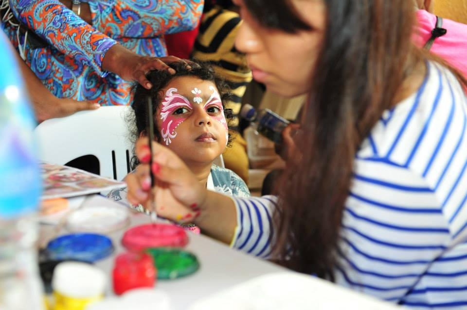 Face-painting - one of the activities at Narpani Community Carnival 2014. Photo courtesy: Narpani Pearavi Facebook