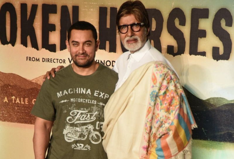Amitabh Bachchan (right) and Aamir Khan.