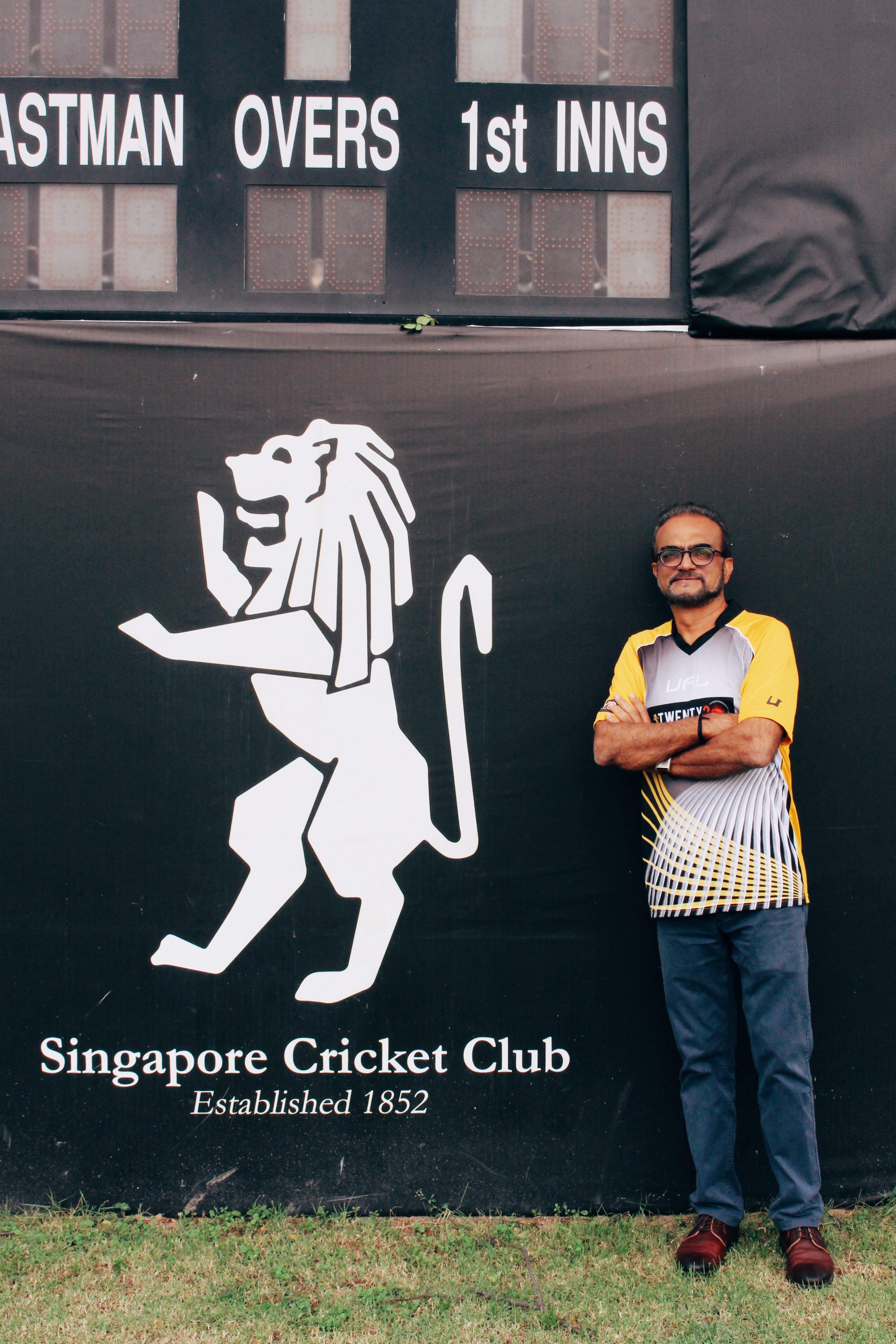 Ashok Mahtani at Singapore Cricket Club. Photo: Connected to India
