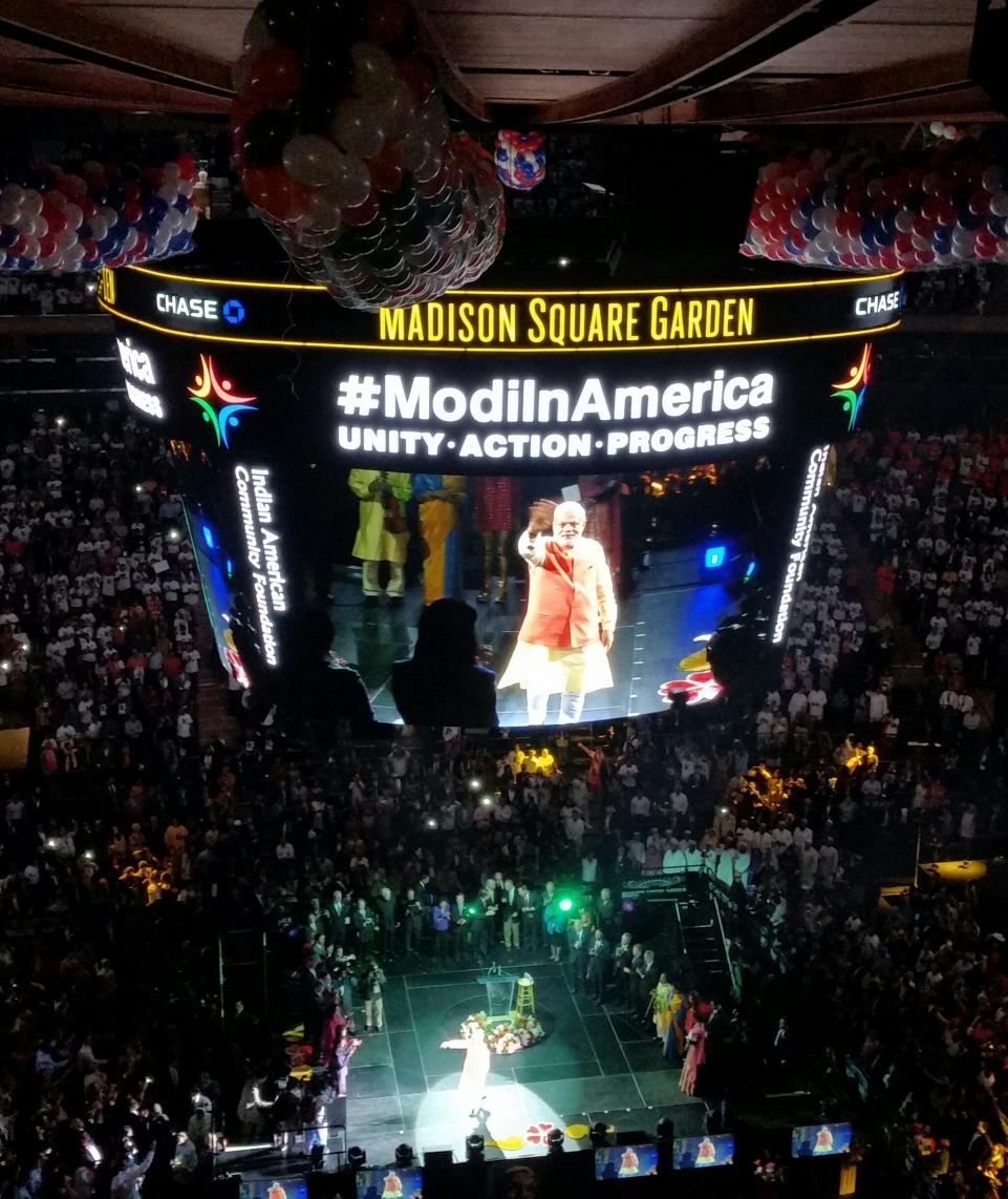 PM Narendra Modi at a rally in Madison Square Garden, New York.