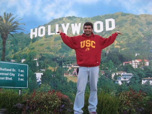 Rammohan Sundaram in an exciting mood at Hollywood.