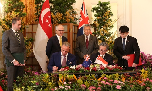 Singapore signs MOU with Australia to enhance cybersecurity collaboration in June 2017. Photo courtesy: csa.gov.sg