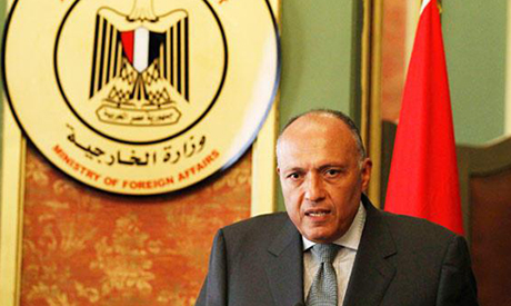Egyptian Foreign Minister Sameh Shoukry.
