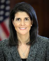 American Ambassador to the UN Nikki Haley