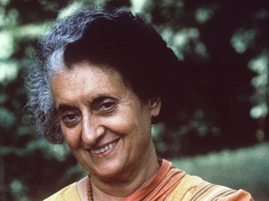 The former Prime Minister of India Indira Ghandi. Photo courtesy: thefamouspeople.com