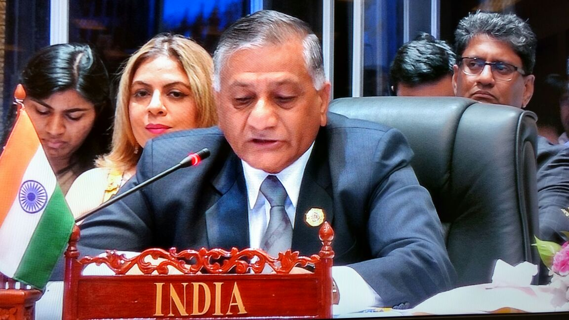 Indian Minister of State for External Affairs VK Singh