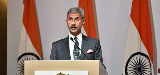 Indian Foreign Secretary S Jaishankar delivering S.T. Lee Distinguished Lecture of the Lee Kuan Yew School of Public Policy in Singapore.