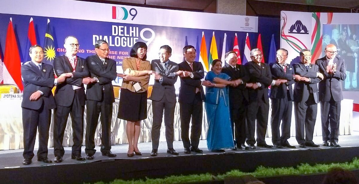 External Affairs Minister Sushma Swaraj at 9th edition of Delhi Dialogue for discussing politico-security and economic issues between ASEAN and India