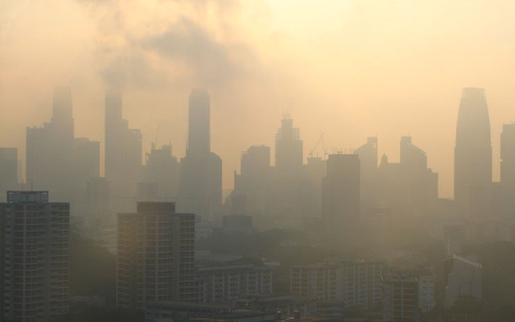 Transboundary haze in 2012. Photo courtesy: ntu.edu.sg