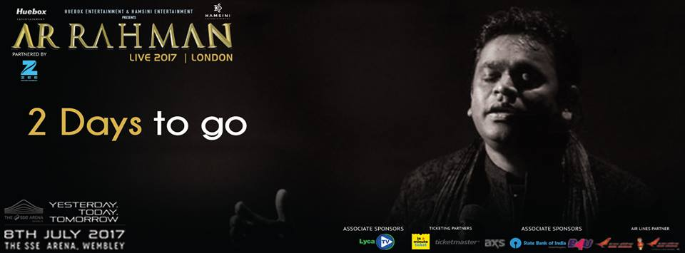 AR Rahman concert poster.