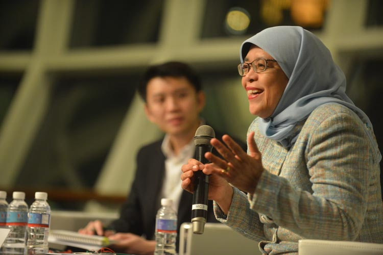 Speaker of Parliament Halimah Yacob.